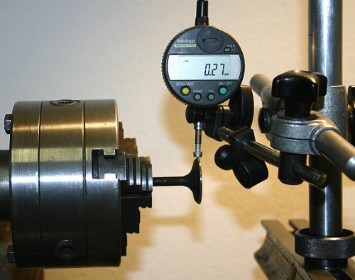 elgörbült szelep, indikátor óra, vizsgálat, valve, ventil